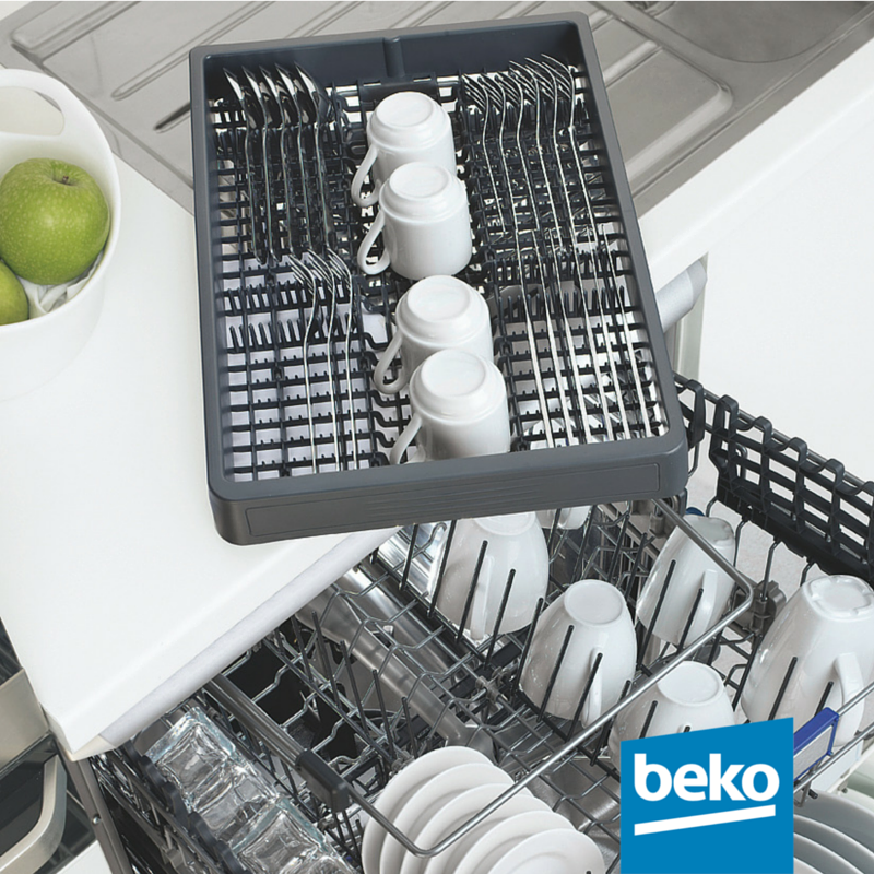 A great option available on selected models is the third pull out basket. A convenient way to wash cutlery, small items and espresso cups or it can be filled with other utensils by removing the multipurpose third basket. Learn more about the Beko dishwashers here: http://bit.ly/1VTAiwv #beko #dishwasher #kitchen #cutlery #bekosmartsolutions