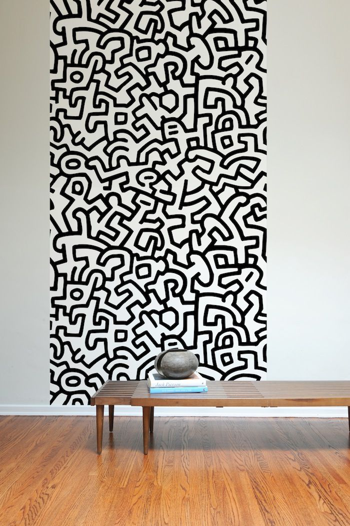 Adesivi Murali Keith Haring.78 Keith Haring Carta Da Parati Wall Stickers Patterned Wall