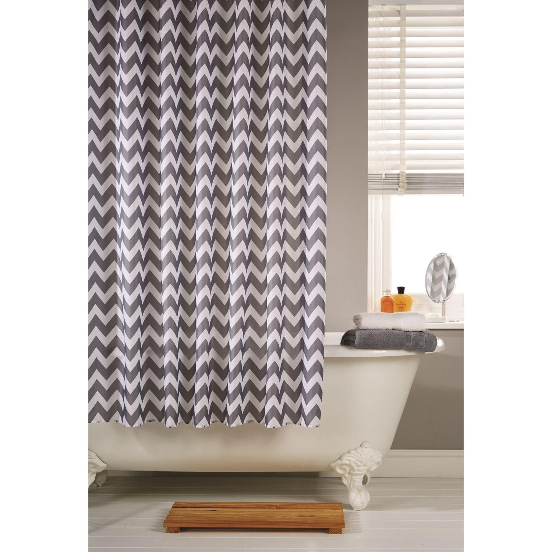 Shower Curtain Chevron Grey Diy Shower Curtain Curtains