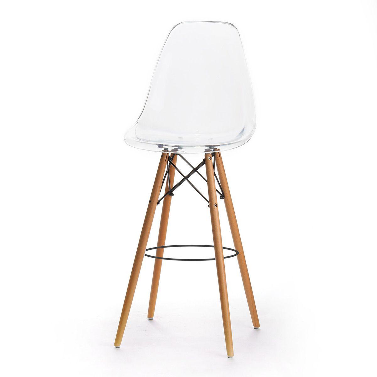 Charles Eames Style Dsw Bar Stool Clear Acrylic Stoelen En