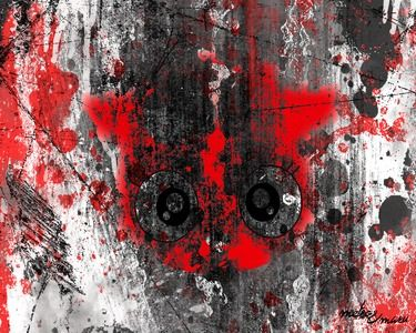 "Saatchi Online Artist Metso Maru; Drawing, ""Black, White, Red. Dracul -Collection"" #art"