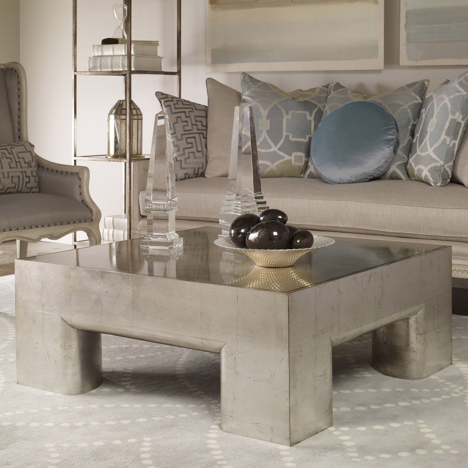 Contemporary parsons square coffee table coffee table