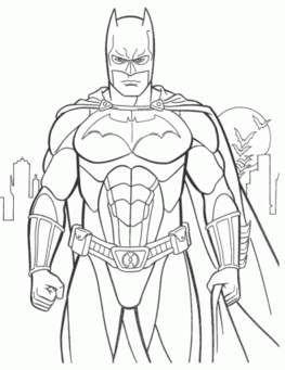 Dibujos Para Colorear Y Pintar De Super Heroes Mysearch Batman