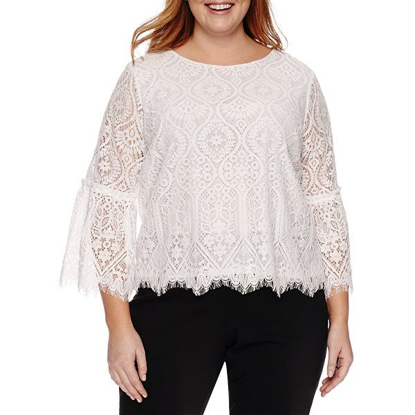 Worthington Lace Bell Sleeve Blouse Plus Jcpenney Chic And