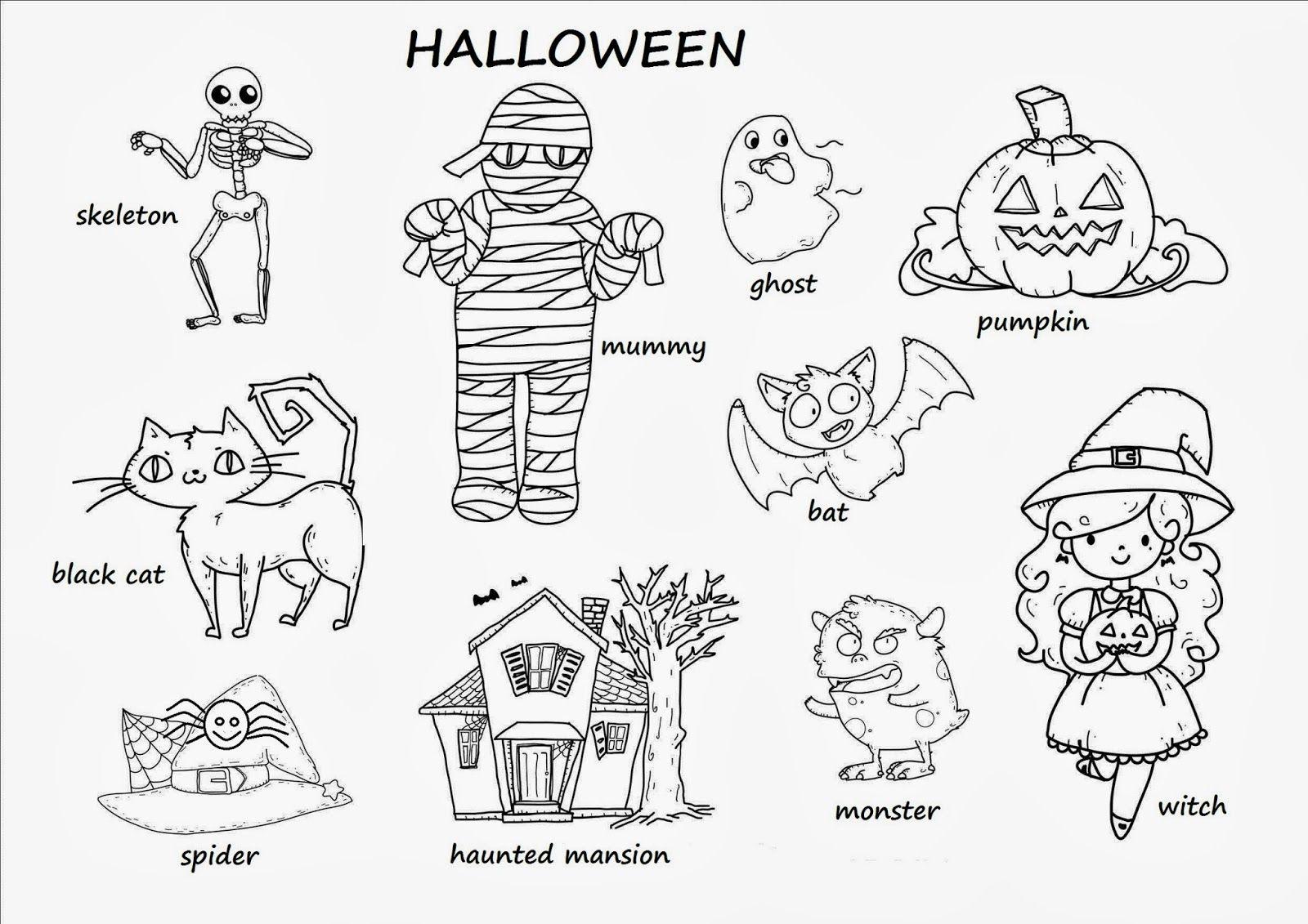 Vistoso Preescolar Halloween Para Colorear Modelo - Ideas Para ...