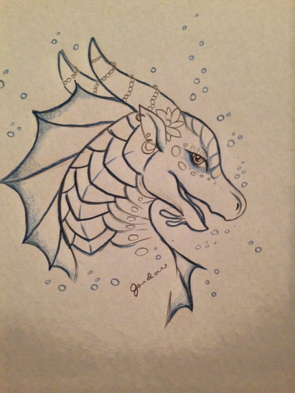 Credit To The Artist Wings Of Fire Dragons Dragon Drawing