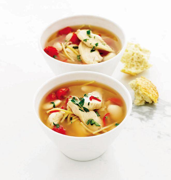Quick Chicken Pasta And Butter Bean Soup Recipe Chicken