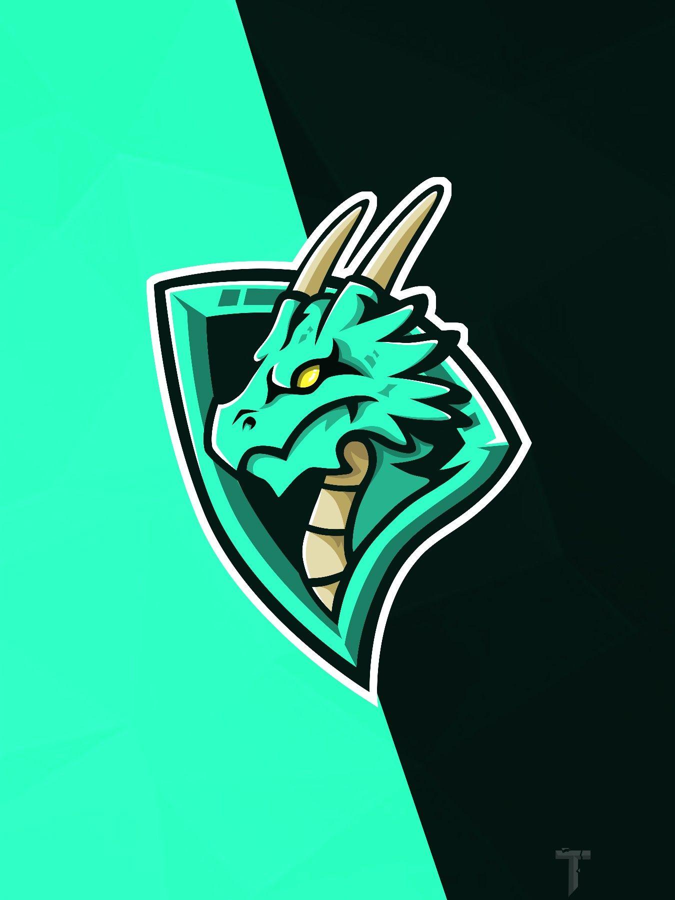 Dragon Mascot logo fortnite background wallpaper png
