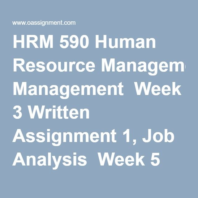hrm 562 week 5 disscussion Prices starting from $8/page 100% money back guarantee enl (us, gb, au, ca) writers available free revisions (revision policy) plagiarism detection system.