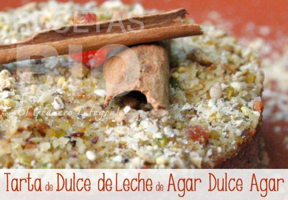 Tarta de Dulce de Leche de Agar Dulce Agar Receta vegetariana (con opción vegana)