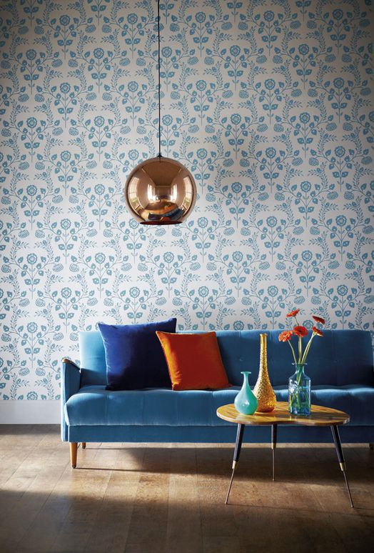 Awesome Tom Dixon Copper Shade And A Blue Velvet Sofa Ibusinesslaw Wood Chair Design Ideas Ibusinesslaworg