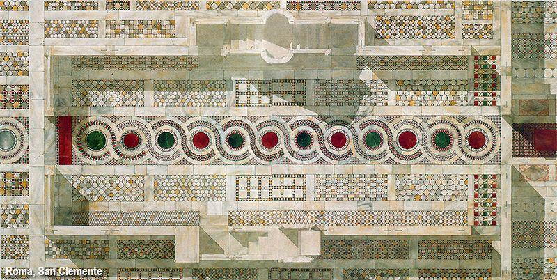 Pavimento Rosso E Bianco : Porfido rosso serpentino verde giallo antico e marmo bianco con