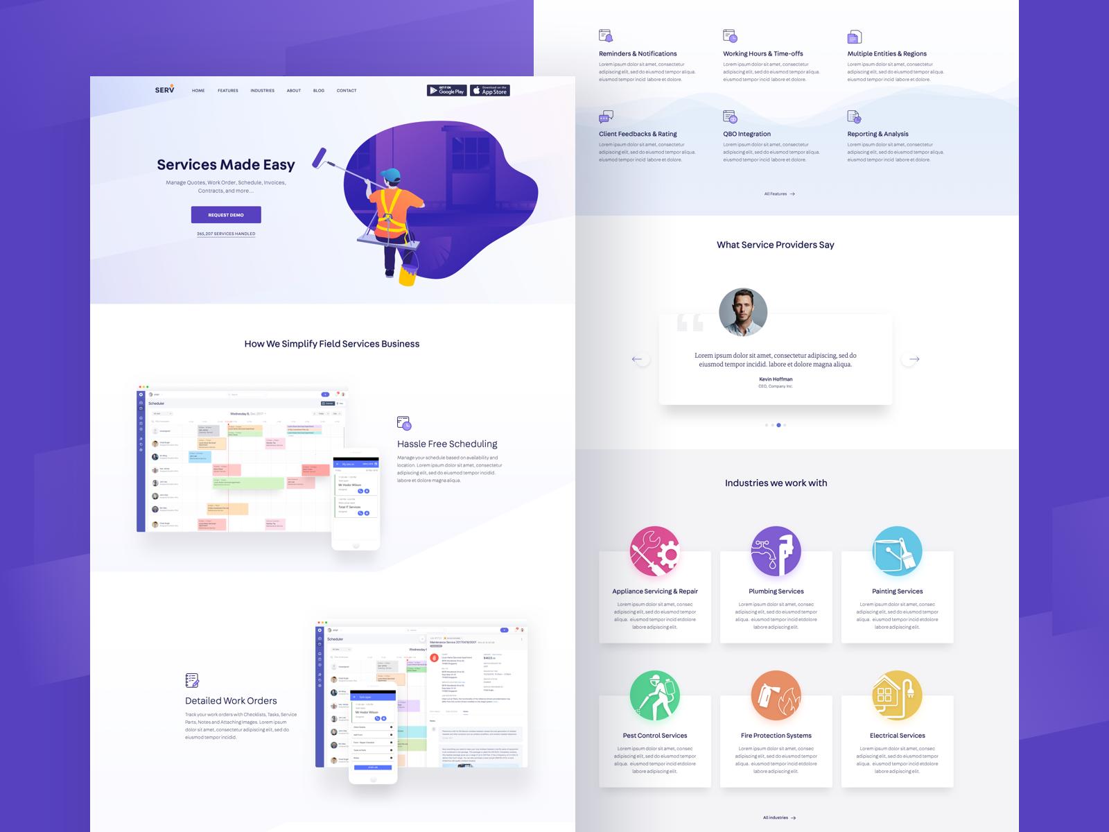 Serv Langing Page Website Design Web Design Web Layout Design