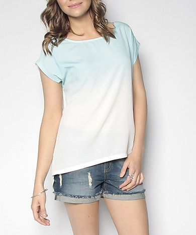 Suzy Dip Dye Satin Front Tee ($22) Available In-Store