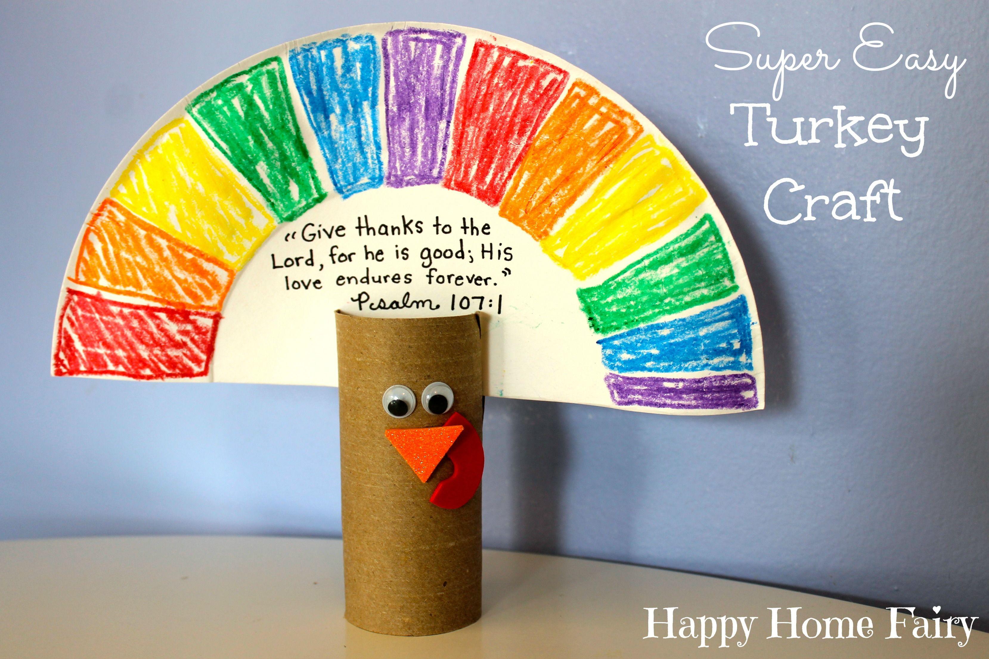 SUPER Easy Turkey Craft & SUPER Easy Turkey Craft | Turkey craft Googly eyes and Construction ...
