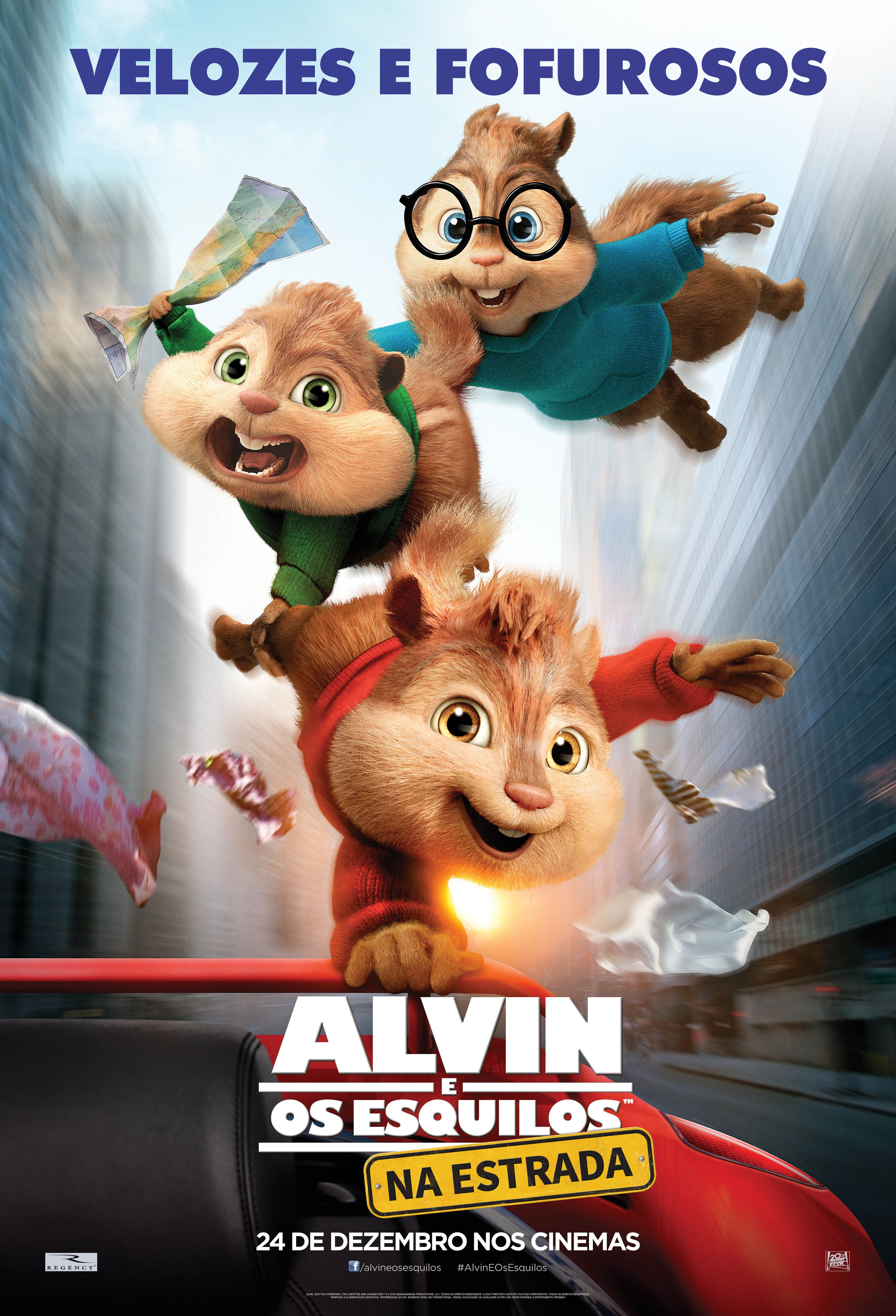 Alvin E Os Esquilos Na Estrada Estreia Dia 17 12 2015 Alvin