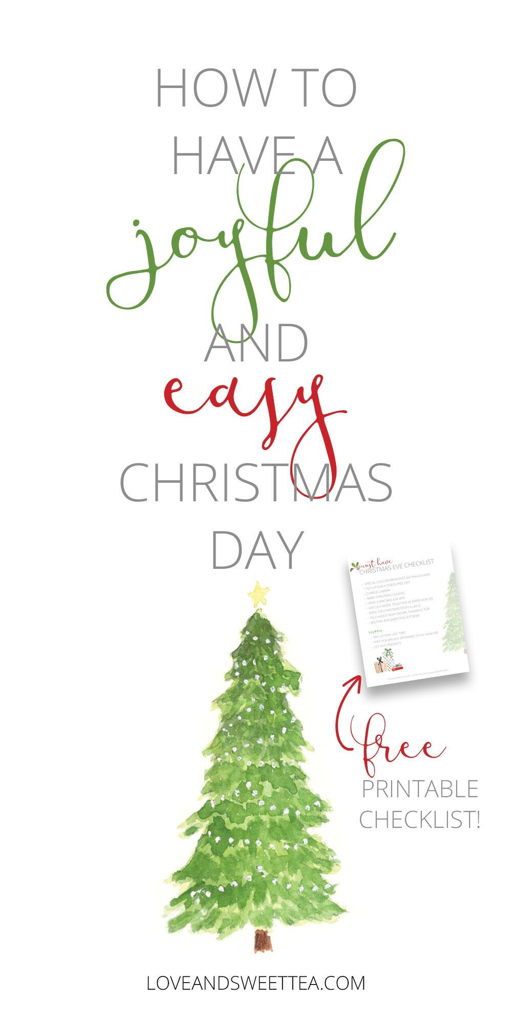 How to Have a Joyful and Easy Christmas Day | Christmas morning ...
