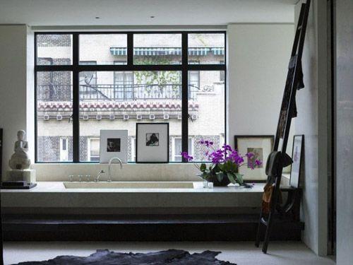 Floating Single Piece Tub; Donna Karen Manhattan Apartment