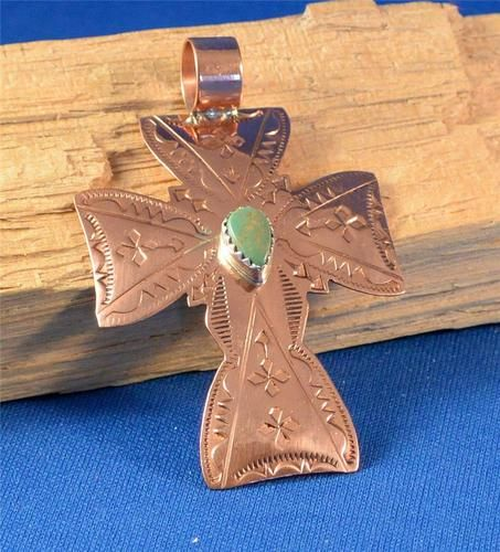 Native American Navajo Indian Jewelry Copper Turquoise Cross Pendant 1   eBay. $15.99 with Free US Shipping.