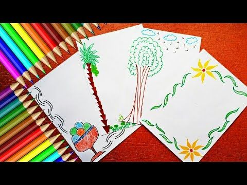Project File Cover Decoration Ideas 4 Attractive Project File Ideas Handmade Paper Decoration Page Borders Design Kids Meal Plan Cooking Classes For Kids