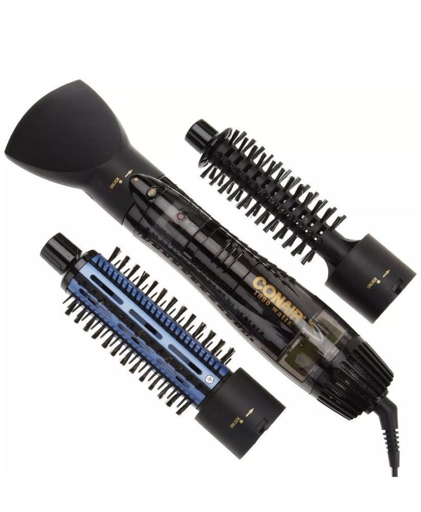 Electric Hot Air Ceramic Brush 2 Speed Settings 3 Power Selector 1000 Watts Ebay Conair Ceramic Brush Ionic