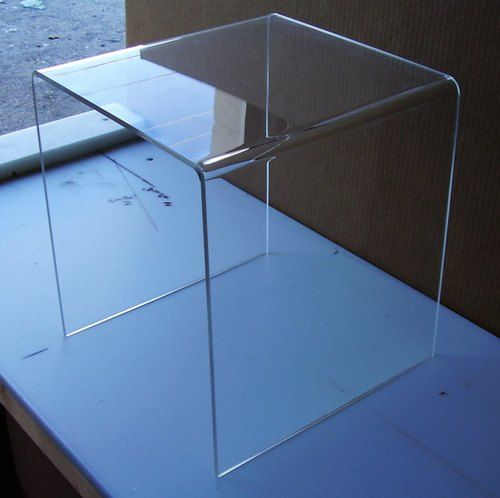 1 4 Clear Acrylic Lucite Plexiglass Mini End Table 12 X 12 X 12 H Plant Stand Living Room Table End Tables Nesting End Tables