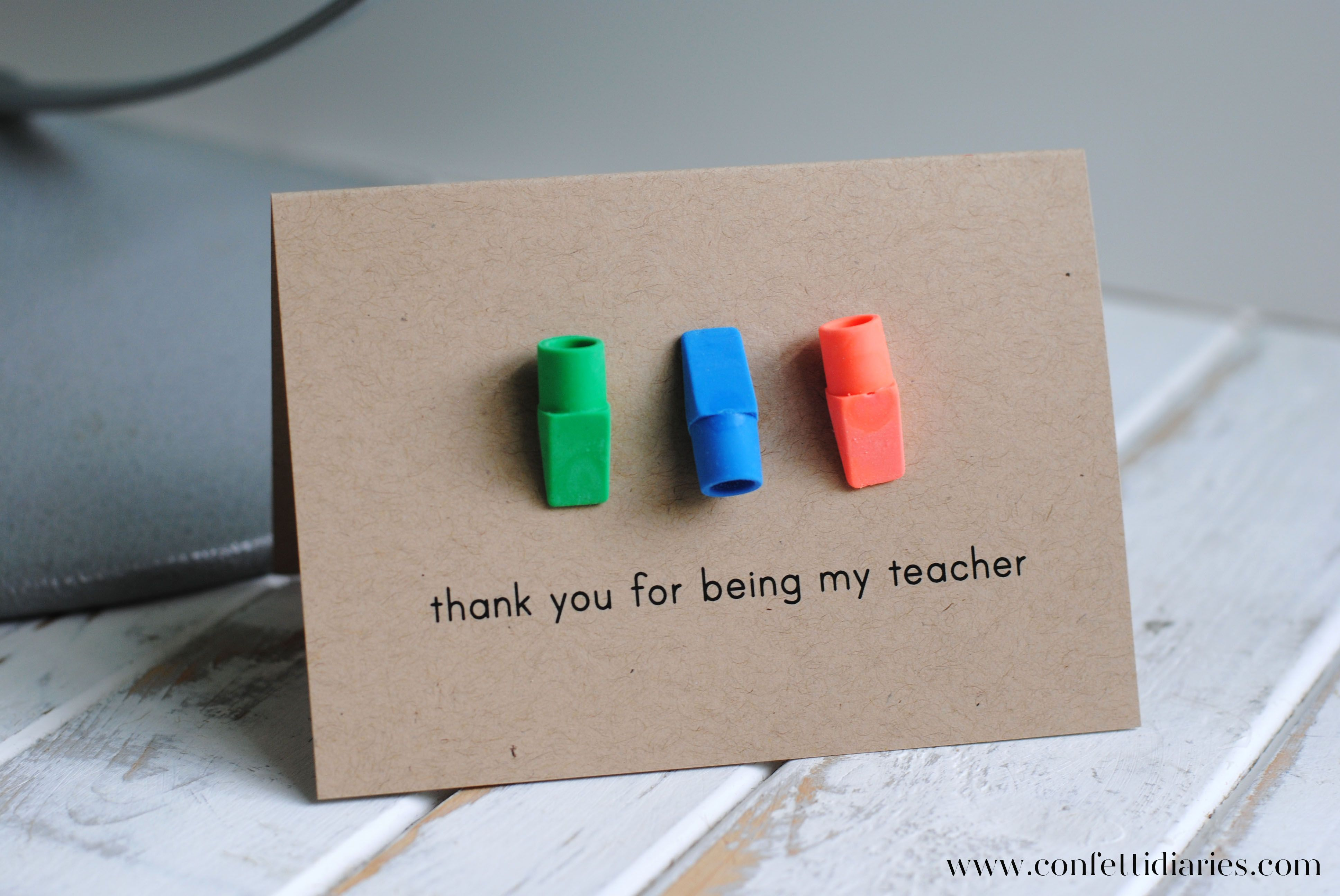 Katarina S Paperie Teacher Birthday Card Teacher Thank You