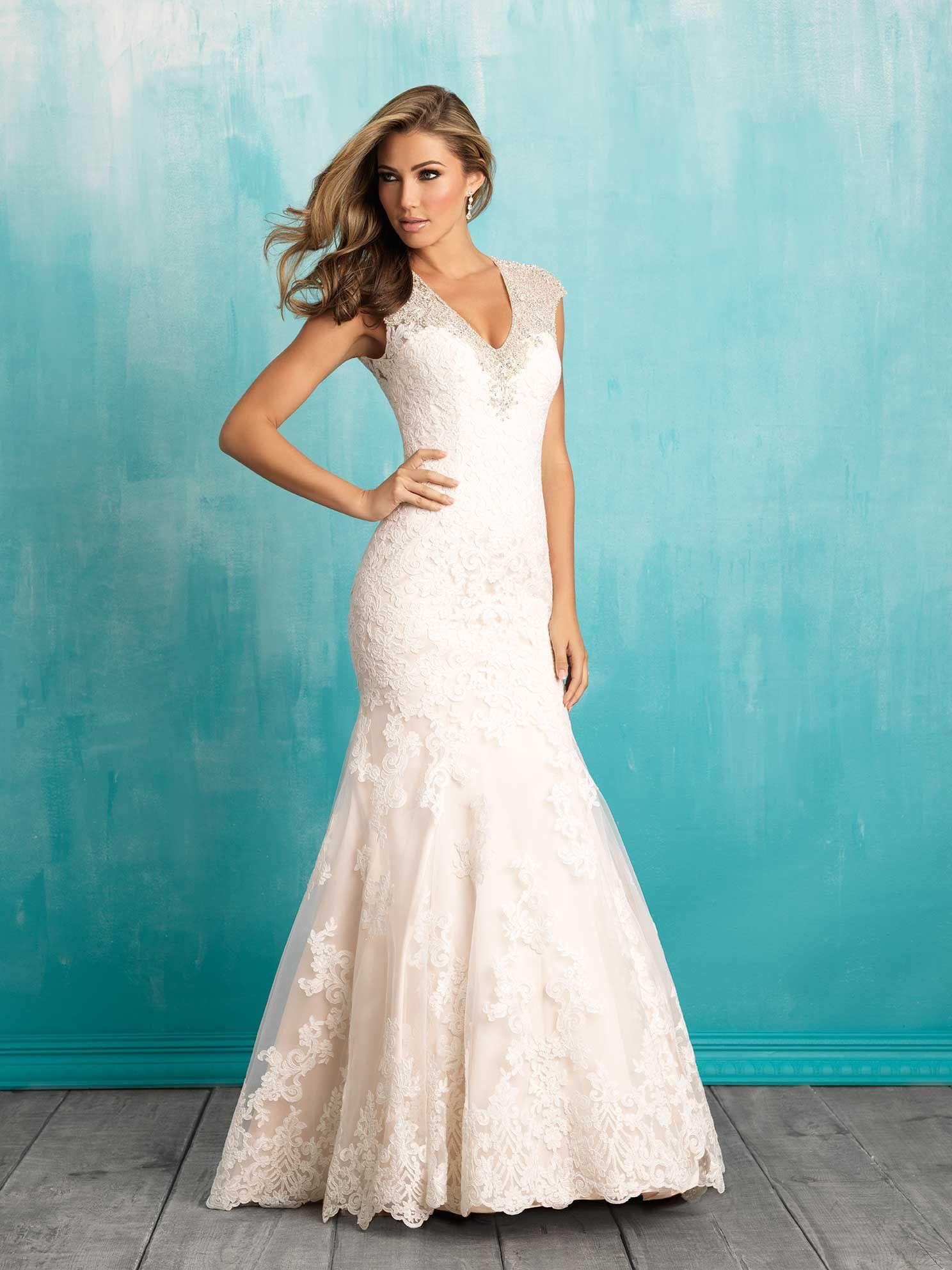 Allure Bridals #9307 Price: $2000-$2499 Silhouette: Modified A-Line ...