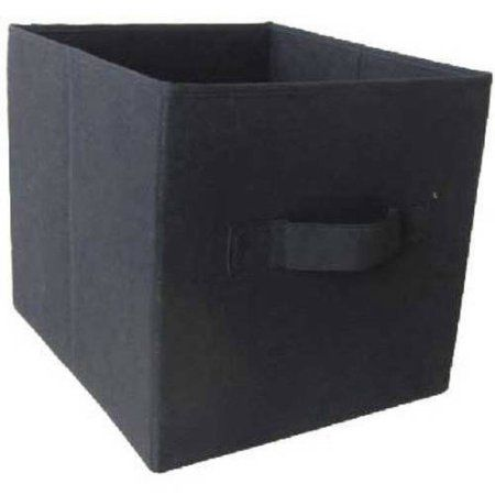 Mainstays Collapsible Fabric Storage Cube Set of 2  Multiple Colors (12.5 inch x 12.5 inch) Black  sc 1 st  Pinterest & Mainstays Collapsible Fabric Storage Cube Set of 2  Multiple ...