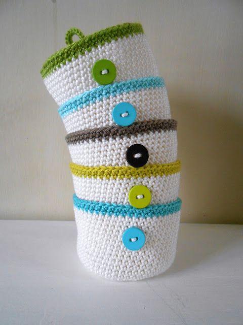Sweet Lil Crochet Baskets Free Pattern Translation Needed