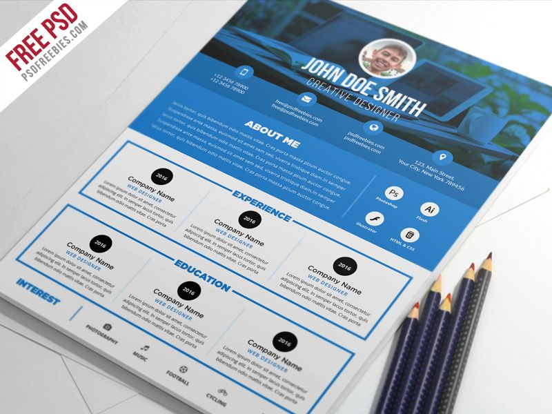 Free Psd  Clean And Designer Resume Cv Template Psd  Cv Template