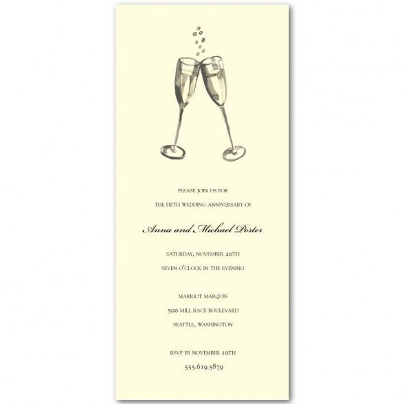 Party Invitations  Sample Printable Anniversary Party Invitations - sample white paper
