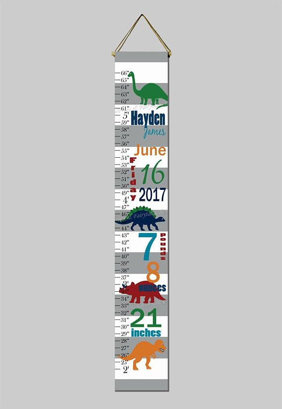 Dinosaurs Birth Information Navy And Green White And Grey Growth
