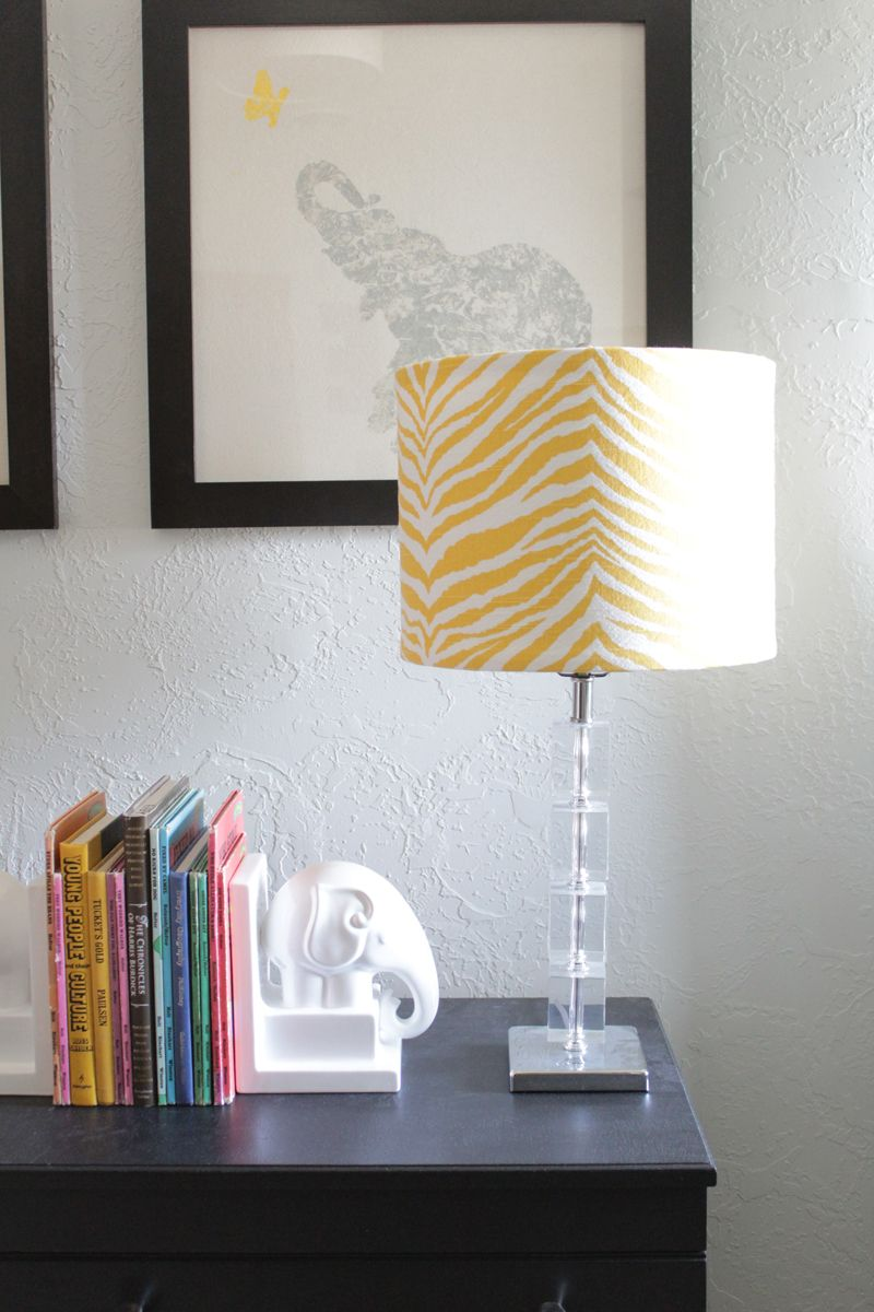 Cover a Lamp Shade in 5 Easy Steps | The Caldwell Project | DIY ...