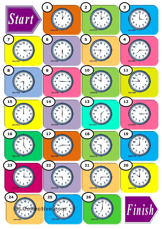 The Time Enkkuideat Las Horas En Ingles Juegos En Ingles Y