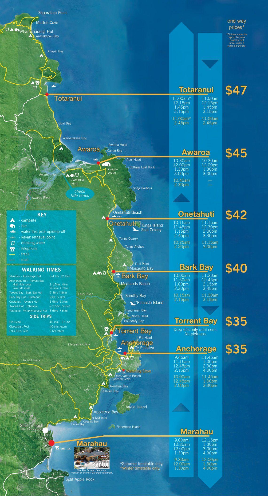 abeltasmanmap.jpg (1140×2111) Abel tasman, Tasman, Trip