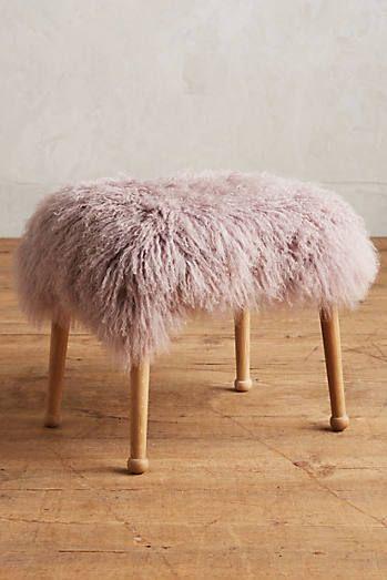 Luxe Fur Stool Anthropologie Furniture Stool