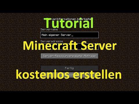Eigenen Minecraft Server Erstellen Für Freunde Im LAN Und Aus Dem - Minecraft server homepage erstellen