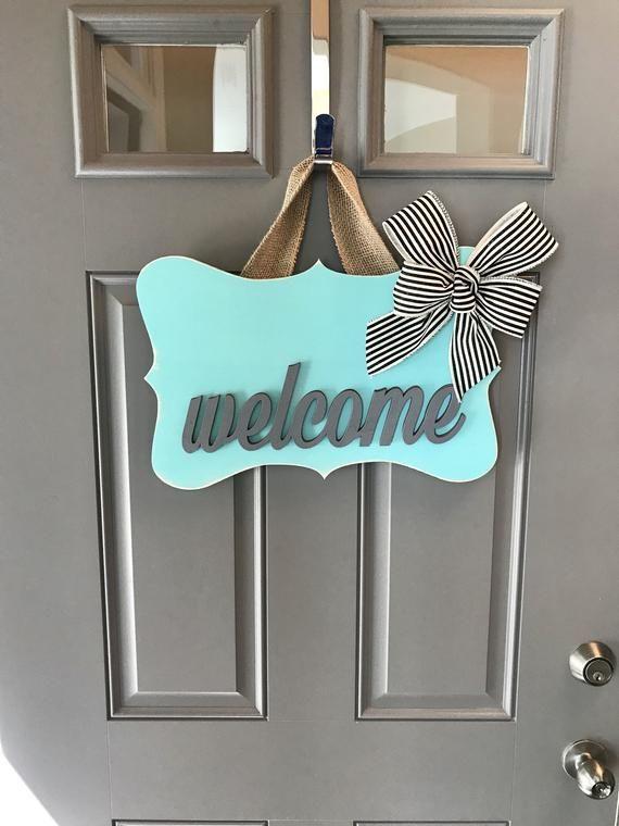 Welcome Door Hanger Sign Front