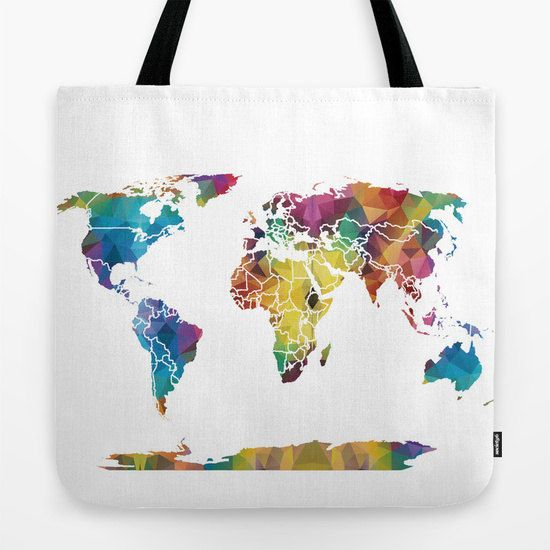 World map tote bag colorful geometric travel theme tote everything world map tote bag colorful geometric travel theme tote everything bag allover print gift for mom beach bag travel bag gumiabroncs Gallery