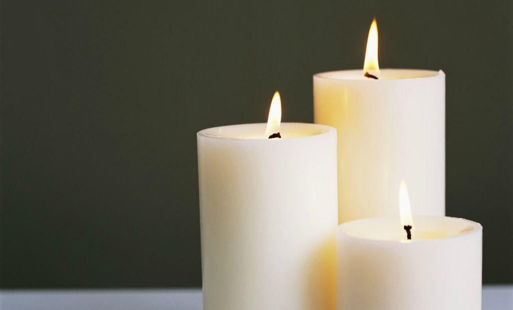 How to decorate a candle with a paper napkin candles