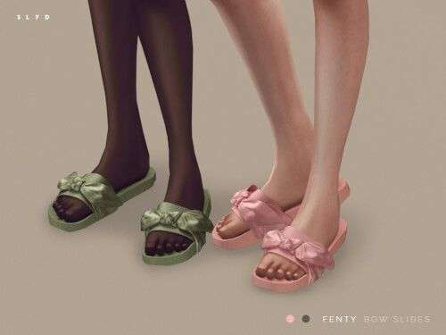 promo code 4b020 9722c Fenty Puma Bow Slides for The Sims 4 | The Sims 4 downloads ...