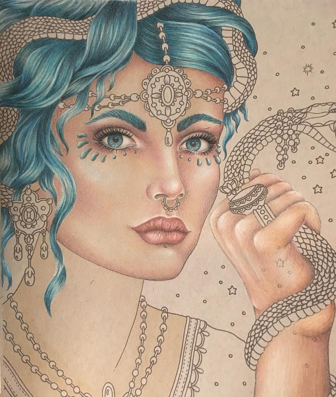 Tonights progress!  #hannakarlzon #magiskgryning #magicaldawn #prismacolor #copicmarkers #copicciao #wip  #strathmoretonedpaper