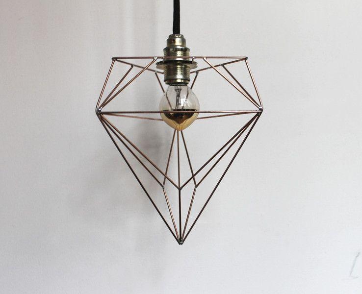 Wire lamp - V3 7/99 | Kupferstange, Kupferdraht und Hängelampen