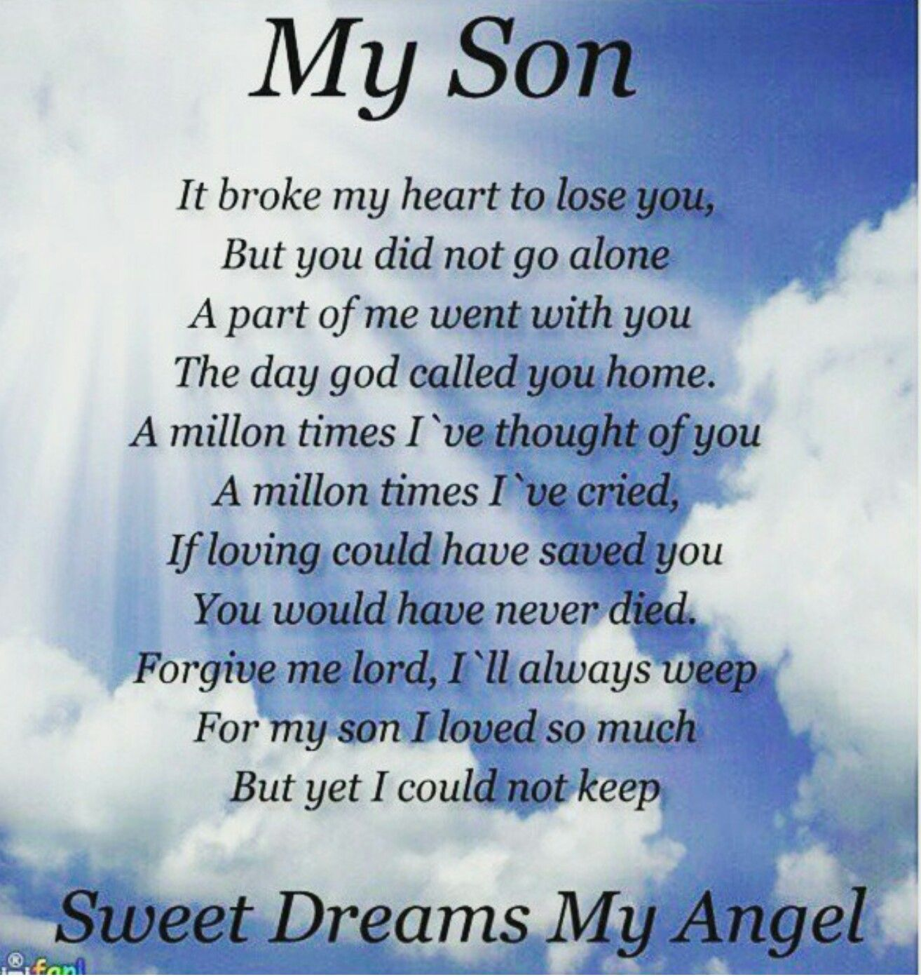 Heaven Son Missing Poems My