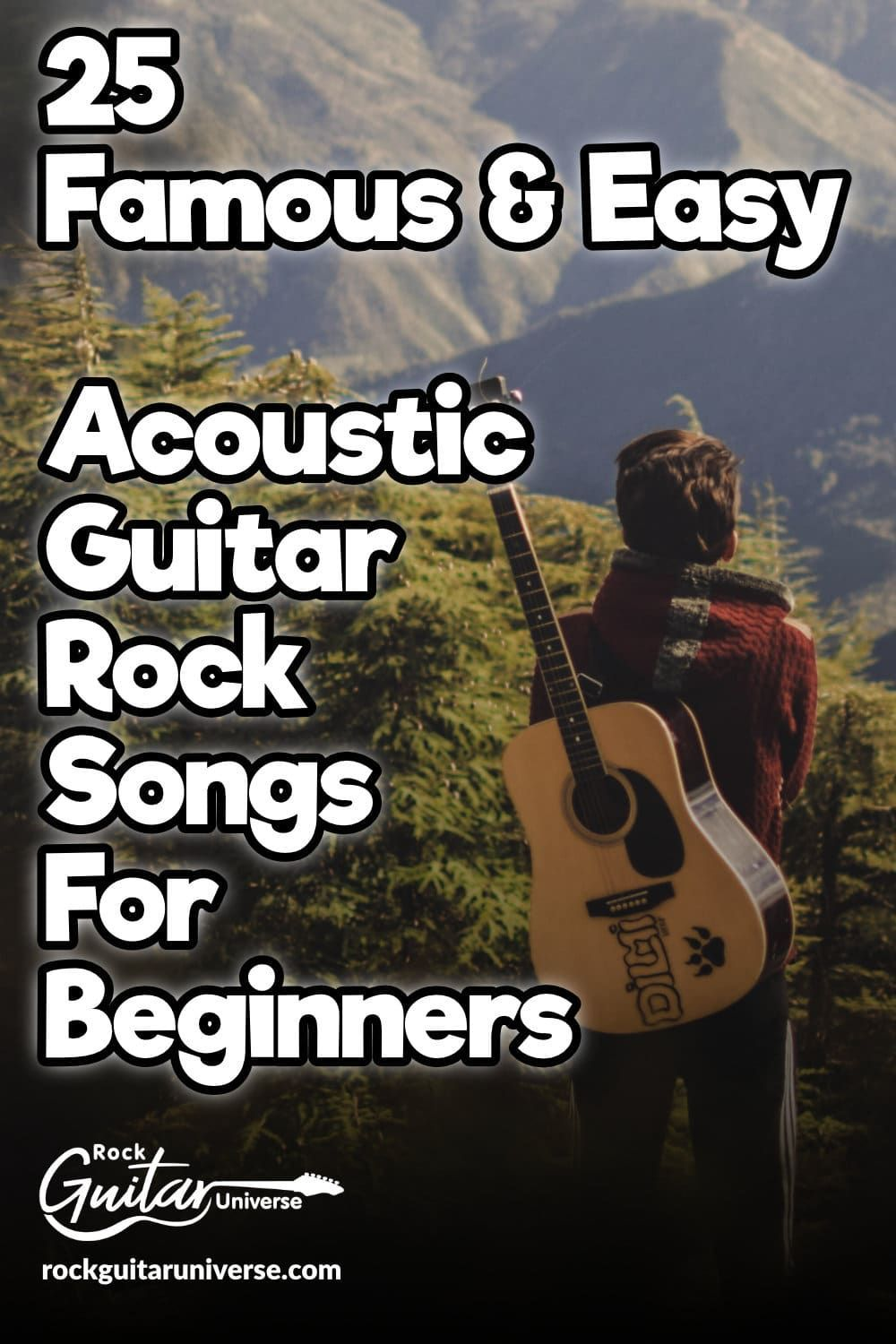 Looking For Some Easy Rock Songs To Play On Your Acoustic Guitar Look No More Loo In 2020 Guitar Lessons Songs Acoustic Guitar Lessons Guitar Chords For Songs