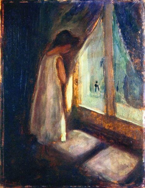 Edvard Munch Girl By The Window On Artstack Edvard Munch Art Edvard Munch Artist Painting