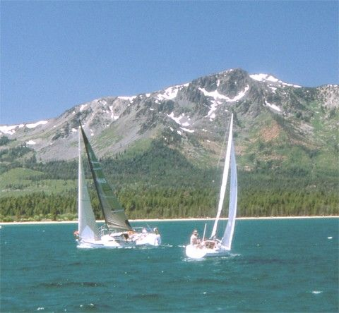 Mt. Tallac by Lake Tahoe refreshes the soul. This photo is from the Tahoe Windjammers Yacht Club website.