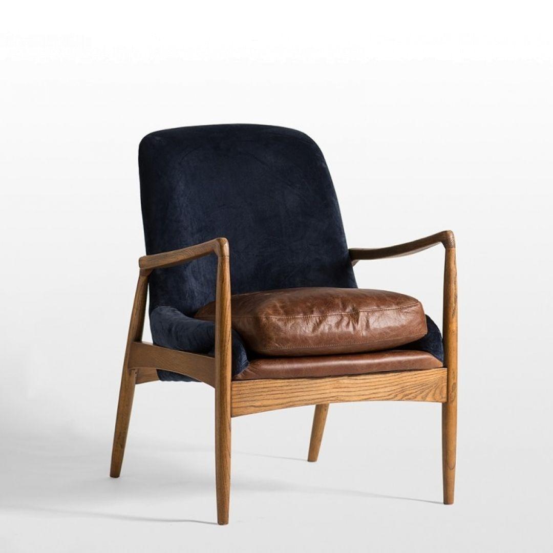 Murdoch Navy Velvet Leather Armchair Interior Secrets 800 With
