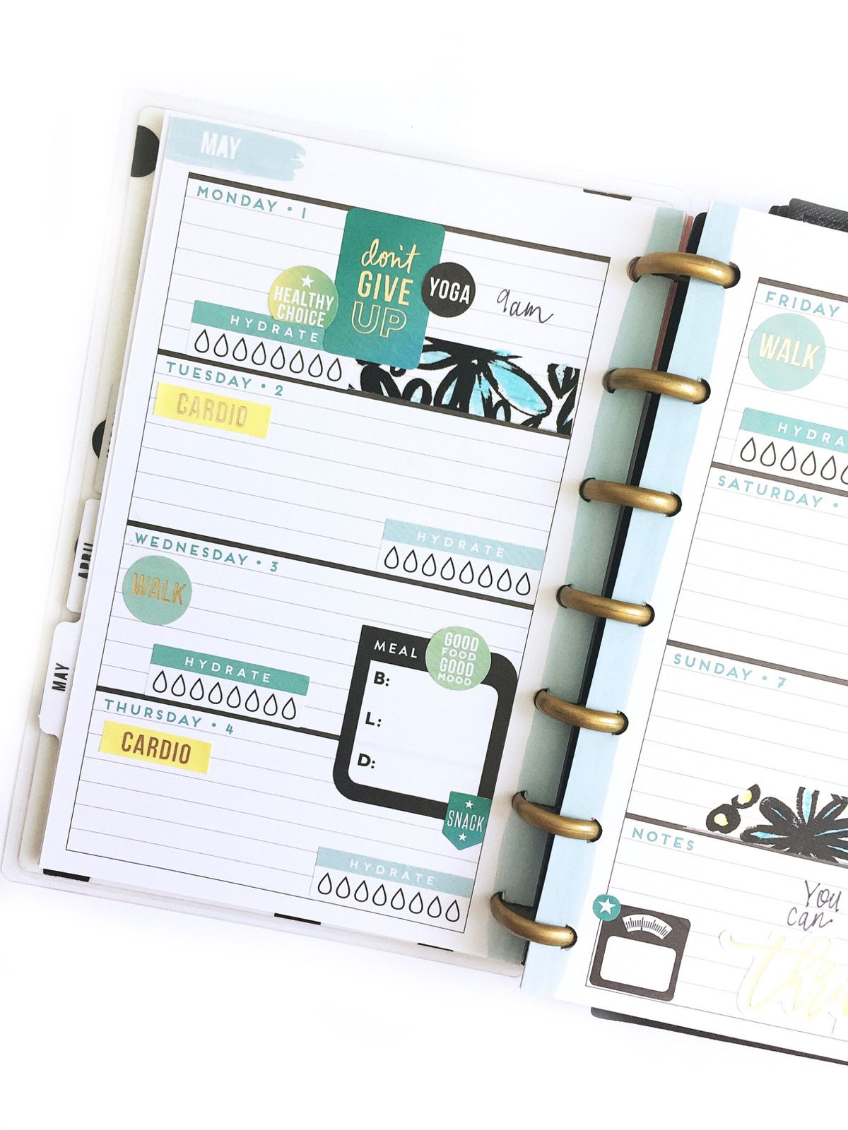 using a HORIZONTAL MINI Happy Planner® as a fitness planner
